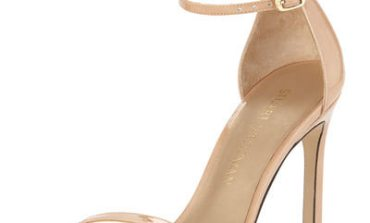 Nudistsong Patent Ankle-Strap Sandal Stuart Weitzman