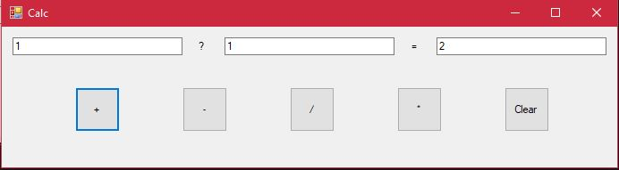 Question mark in simple calculator