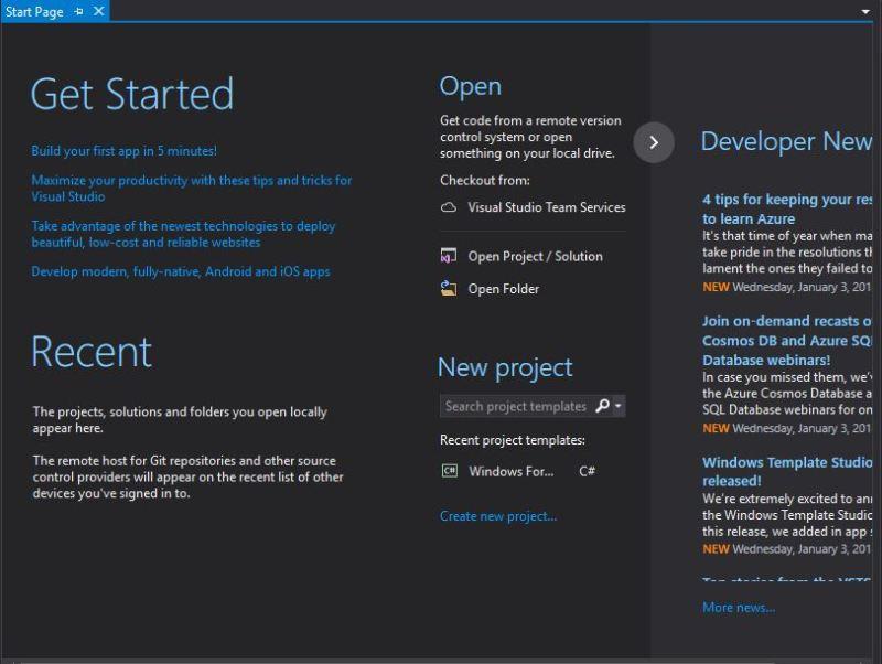 Start Page VS