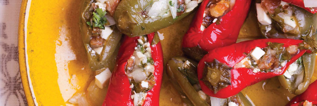 Paneer-Stuffed Pickled Chiles — Recipe from Asian Pickles