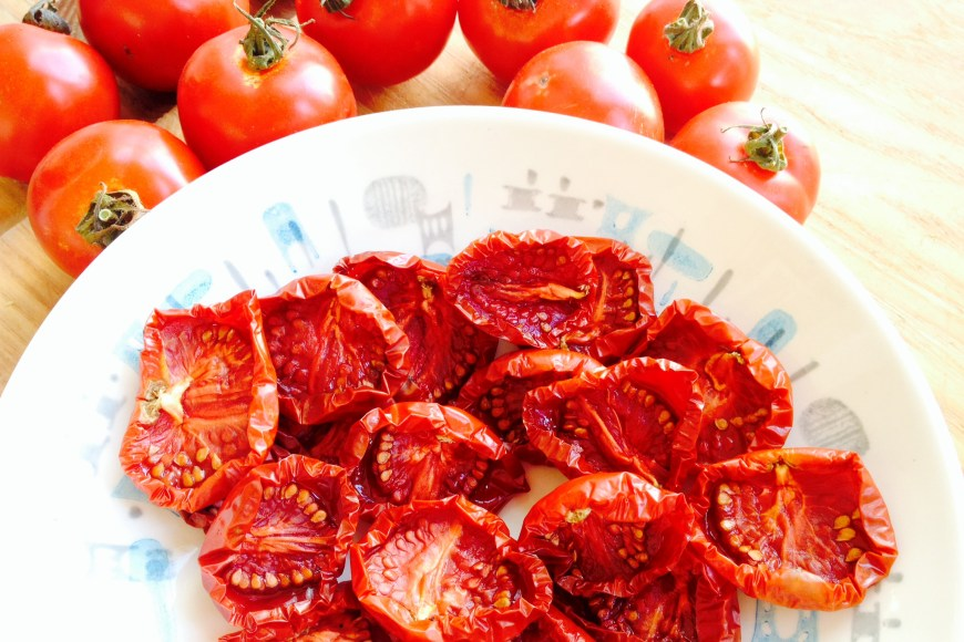dried fruit, tomatoes, early girl, oven drying