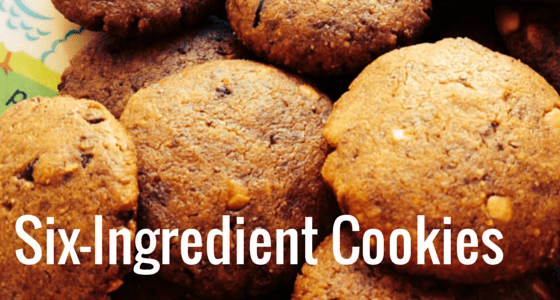 Six-Ingredient Cookies – One Bowl, One Fork