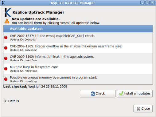 Uptrack-Manager