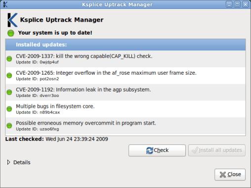 Uptrack Install