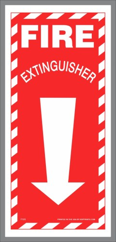 Fire Extinguisher Locator Stickers
