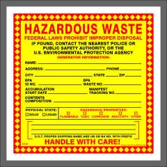Hazardou Waste Label