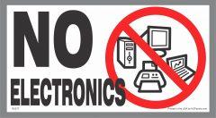 No Electronics Sticker
