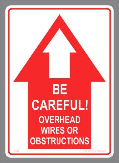 Danger Overhead Wires Sticker