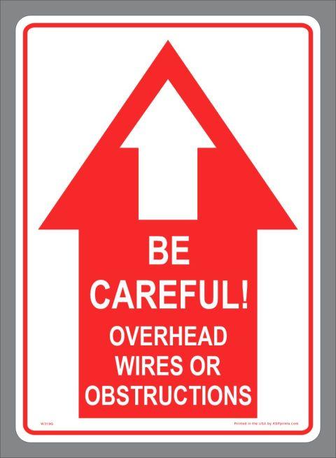 Danger Overhead Wires Sticker