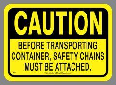 Caution Safety Chains Sticker