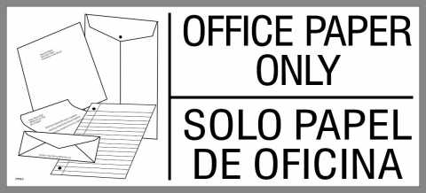 large office paper sticker