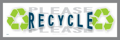Please Recycle decal
