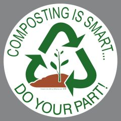 Compost Container Promotion Sticker