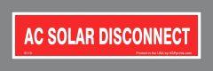 AC Solar Disconnect Sticker