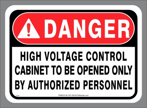 DANGER High Voltage Authorized Personnel Only decal