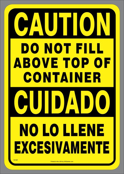 Bilingual Do Not Fill Above Sticker
