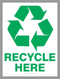 Recycle Here deca;