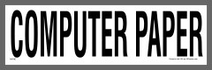 Computer Paper Recycling Sticker