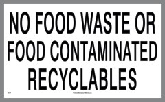 Food Waste and Contaminated Sticker
