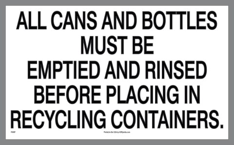 Cans and Bottles Must Be Emptied