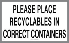 Place Recyclables Sticker