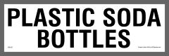 Plastic Soda Bottle Recycling Sticker