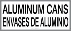 bilingual ALUMINUM CANS sticker