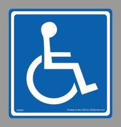 Handicap Porta Potty Decal