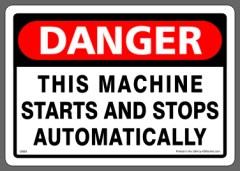 Machine Starts and Stops Sticker