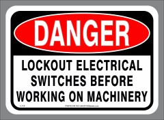 Electrical Lockout Sticker