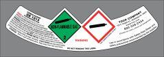 UN1013 Carbon Dioxide Neck Label