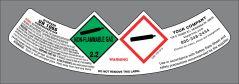 UN1066 Nitrogen label