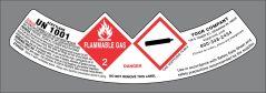 UN1001 Acetylene GHS style neck labelUN1001 Acetylene GHS style neck label