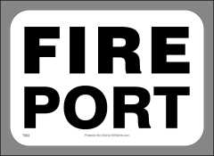 Fire Port Sticker