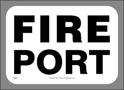 Fire Port Sticker