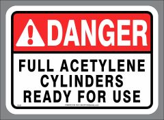 FULL ACETYLENE CYLINDERS READY FOR USE