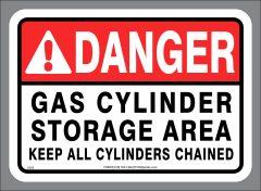 GAS CYLINDER STORAGE AREA