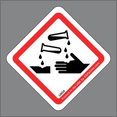 GHS Corrosion Hazard Label