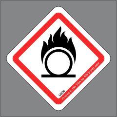 GHS Oxidizing Symbol Label