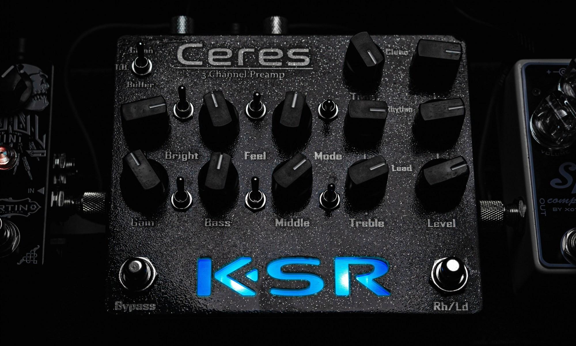 KSR Ceres lit in blue