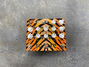 Orange Burst Tiger Stripe Ceres with White Knobs