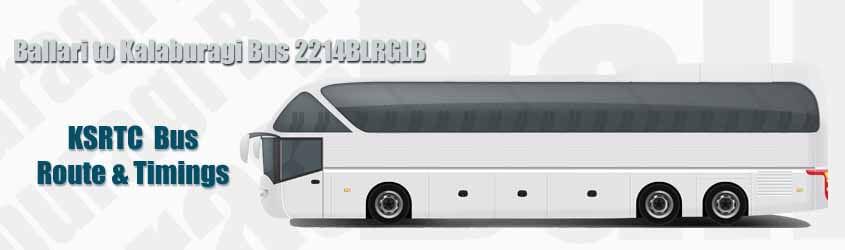 Ballari to Kalaburagi Bus 2214BLRGLB