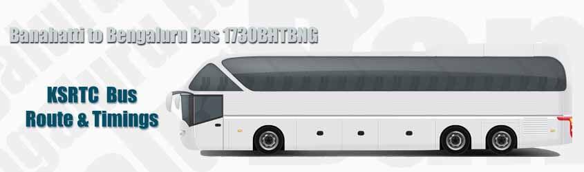 Banahatti to Bengaluru Bus 1730BHTBNG