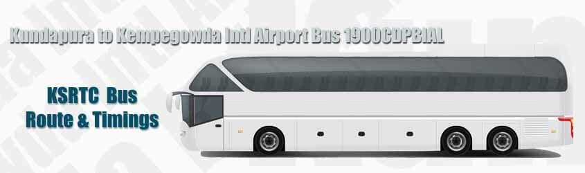 Kundapura to Kempegowda Intl Airport Bus 1900CDPBIAL