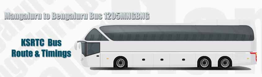Mangaluru to Bengaluru Bus 1205MNGBNG