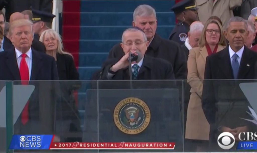 Раввин Марвин Хайр на инаугурации Дональда Трампа