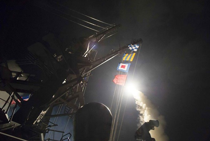 Во время ракетного удара по сирийскому военному аэродрому