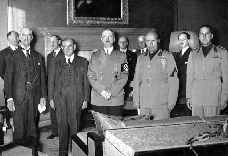 Участники Мюнхенского сговора. 25 сентября 1938 г. Attribution: Bundesarchiv, Bild 183-R69173 / CC-BY-SA 3.0