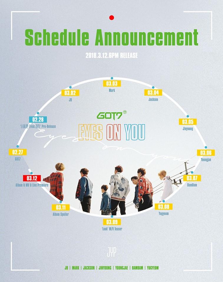 got7 schedule
