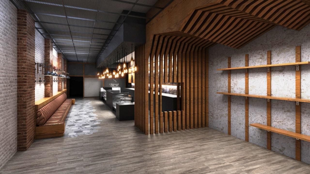 bal harbou coffee shop interior design render kstudio